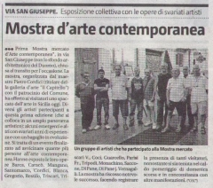 Giornale di Sicilia - 25/08/2019 - ARTICOLO: Mostra d'arte contemporanea (Contemporary art exhibition)